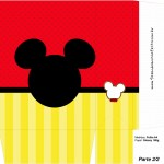 Sacolinha Surpresa Mickey Mouse Silhueta - Parte 2