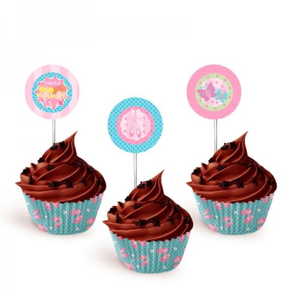 Toppers para Cupcakes Bailarina: