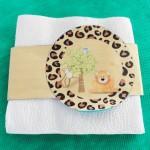 Porta Guardanapos Chá de Bebê Safari