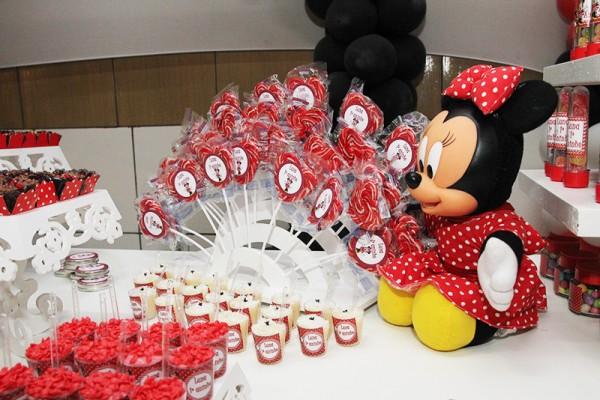 Decoração Minnie Vermelha: