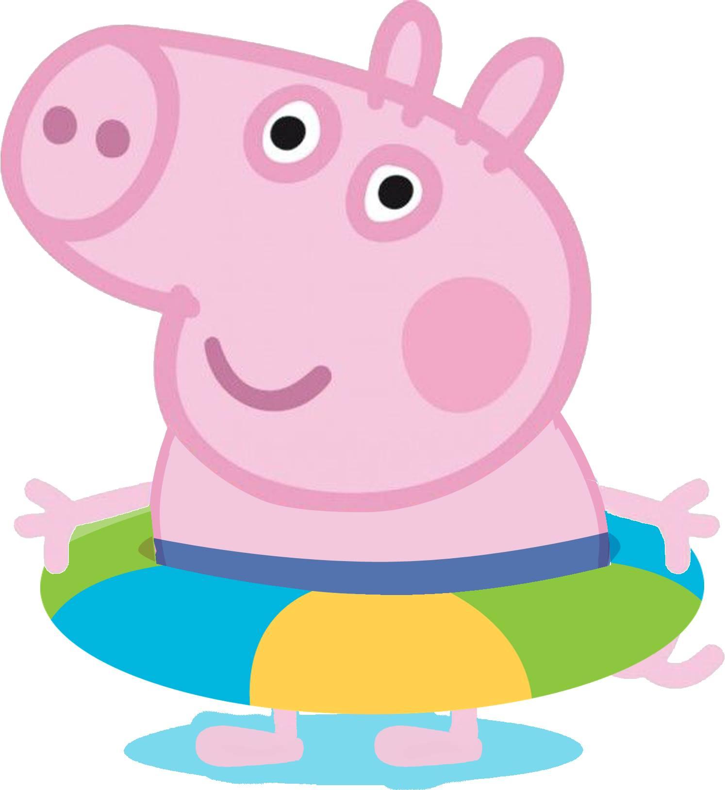 George pig na piscina fazendo a nossa festa - Peppa pig piscina ...