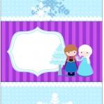 Bala Personalizada Frozen Cute Roxo e Azul