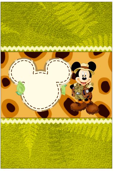 Bala Personalizada Mickey Safari