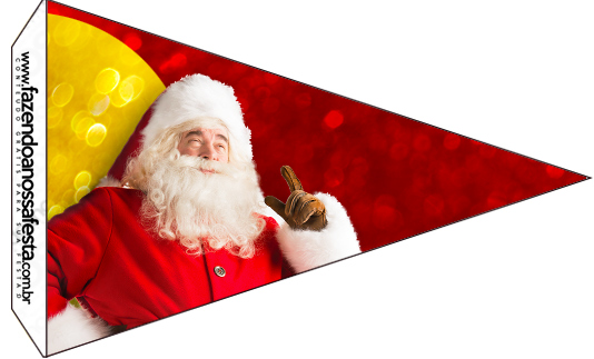 Bandeirinha Sanduiche 3 Natal Papai Noel