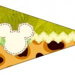 Bandeirinha Sanduiche 4 Mickey Safari