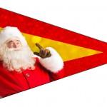 Bandeirinha Sanduiche 4 Natal Papai Noel