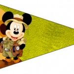 Bandeirinha Sanduiche 5 Mickey Safari