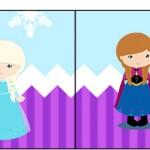 Bandeirinha Sanduiche Frozen Cute Roxo e Azul 1