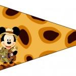 Bandeirinha Sanduiche Mickey Safari 1