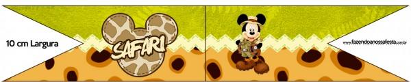 Bandeirinha Sanduiche Mickey Safari
