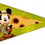 Bandeirinha Sanduiche Mickey Safari 7