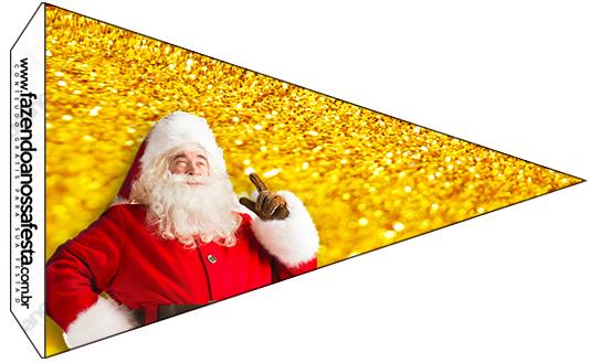 Bandeirinha Sanduiche Natal Papai Noel
