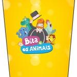 Bisnaga Flip Top Bita e os Animais para Meninos
