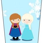 Bisnaga Flip Top Frozen Cute Roxo e Azul