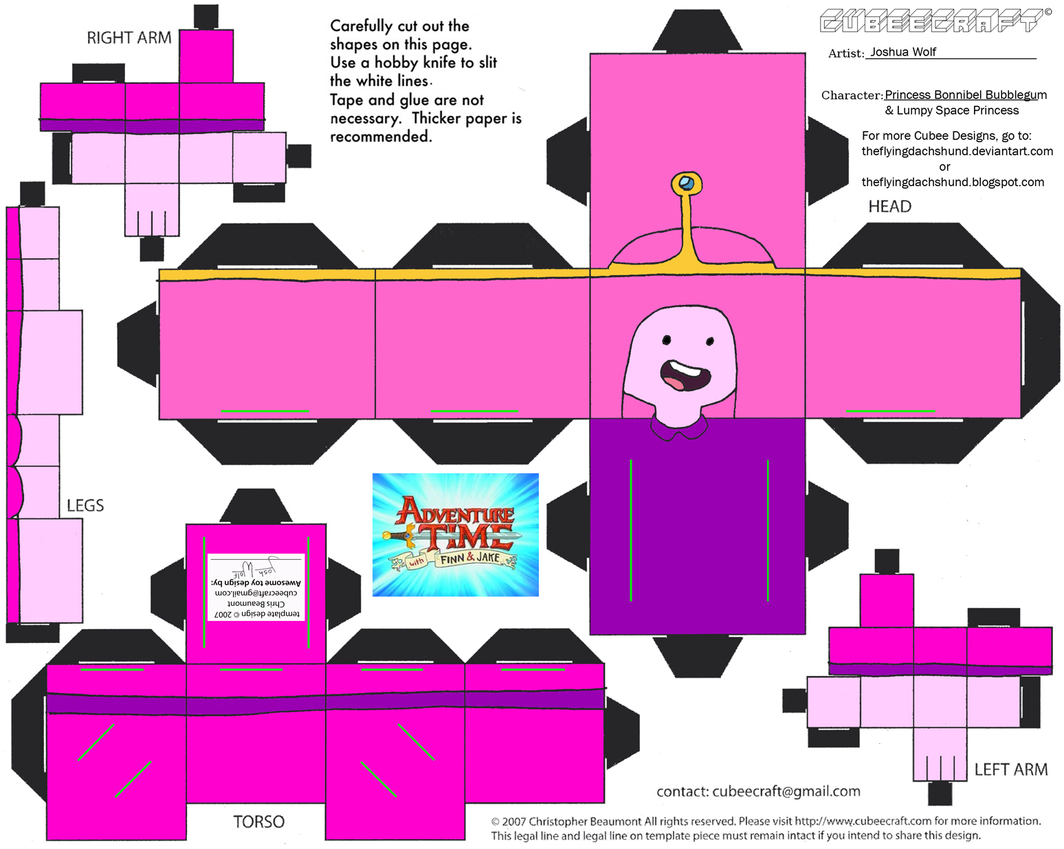 Extremamente Bonecos 3D hora de aventura 7 - Fazendo a Nossa Festa BU57
