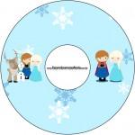 CD DVD Frozen Cute Roxo e Azul