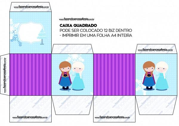 Caixa Bis Frozen Cute Roxo e Azul