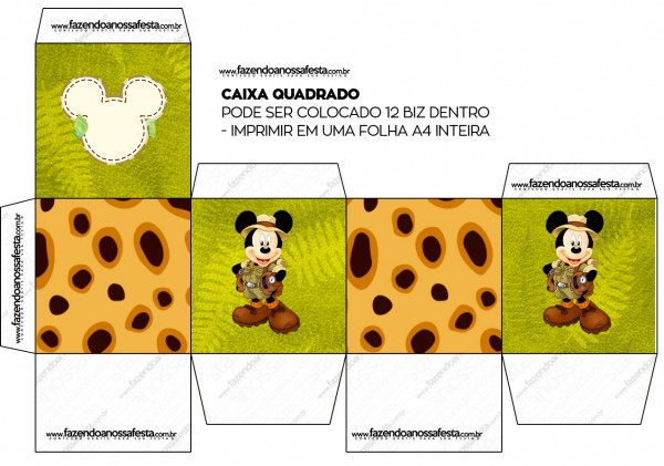 Caixa Bis Mickey Safari