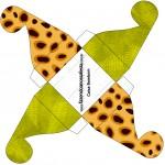 Caixa Bombom Fundo Safari