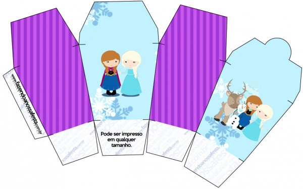 Caixa China in Box Frozen Cute Roxo e Azul