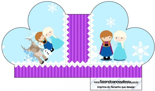 Caixa Coração Frozen Cute Roxo e Azul