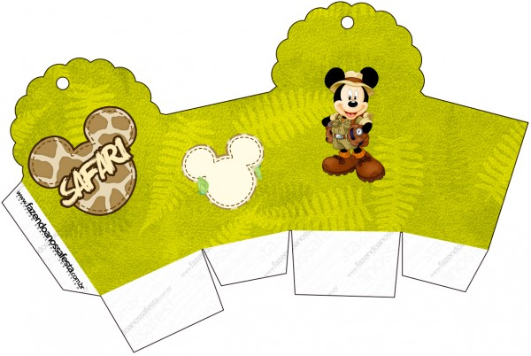 Caixa Cupcake Mickey Safari