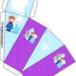 Caixa Fatia Frozen Cute Roxo e Azul