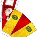 Caixa Fatia Natal Papai Noel