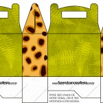 Caixa Lembrancinha Fundo Safari