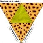 Caixa Pirâmide Fundo Safari