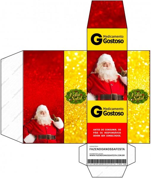 Caixa Remédio Natal Papai Noel