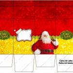 Caixa de Leite Natal Papai Noel