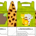 Caixa para Lembrancinha Safari