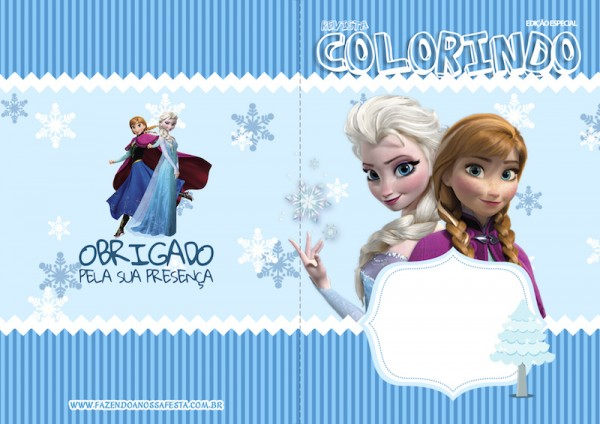 Capa Revista Colorindo Frozen 2
