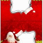 Cartão Agradecimento de Mesa Natal Papai Noel