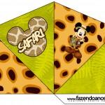 Cone Guloseimas 4 lados Mickey Safari