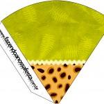 Cone Guloseimas Fundo Safari
