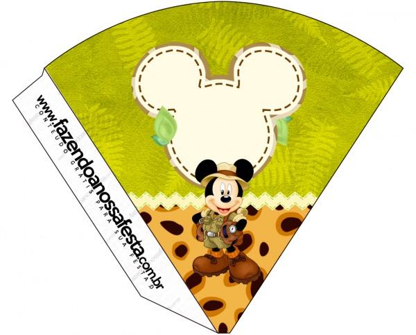Cone Guloseimas Mickey Safari