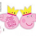 Convite Cabeça Peppa Pig Princesa - Frente (1)