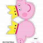 Convite Cabeça Peppa Pig Princesa - Frente 2Convite Cabeça Peppa Pig Princesa - Frente 2Convite Cabeça Peppa Pig Princesa - Frente 2