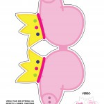 Convite Cabeça Peppa Pig Princesa - Frente 3Convite Cabeça Peppa Pig Princesa - Frente 3