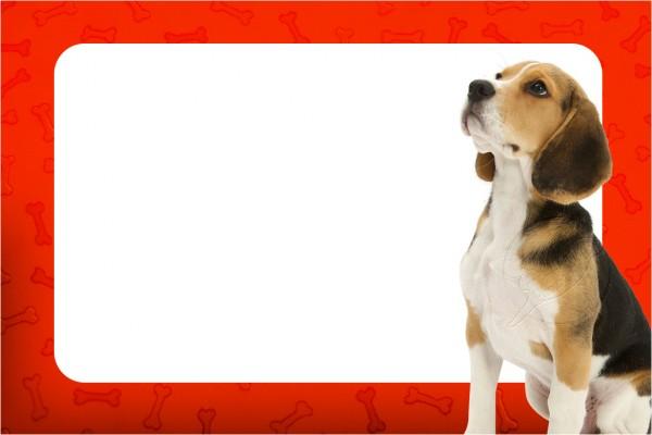 Convite Cachorrinho Beagle 1