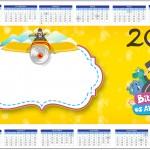 Convite Calendário 2014 Bita e os Animais para Meninos