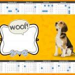 Convite Calendário 2015 Cachorrinho Beagle
