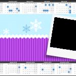 Convite Calendário 2015 Frozen Cute Roxo e Azul