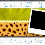 Convite Calendário 2015 Fundo Safari