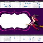 Convite Calendário 2015 Halloween Bruxinha