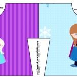 Convite Camisa Frozen Cute Roxo e Azul