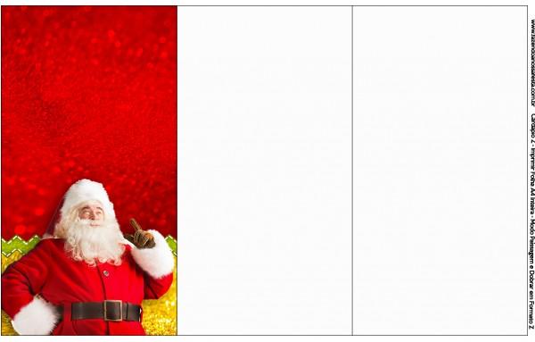 Convite, Cardápio ou Cronograma em Z Natal Papai Noel
