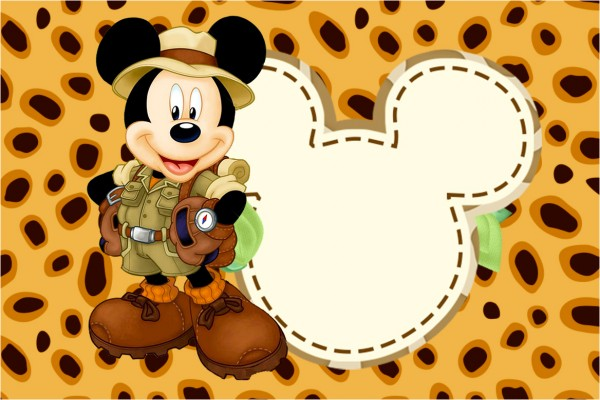 Convite, Cartão Mickey Safari